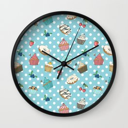 Donuts and muffins Wall Clock