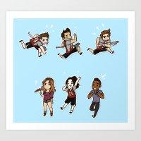 lacrosse Art Prints featuring Lacrosse by kendrawcandraw