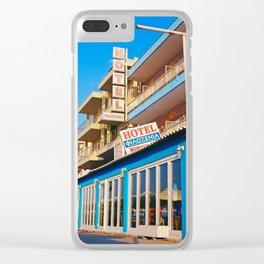 Filoxenia Hotel Clear iPhone Case