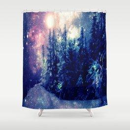 Galaxy Forest : Deep Pastels Shower Curtain