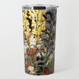 Tom Thomson - Wild Flowers - Canada, Canadian Oil Painting - Group of Seven Travel Mug