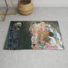 Gustav Klimt - Death and Life Rug