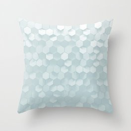 hexagon snow Throw Pillow