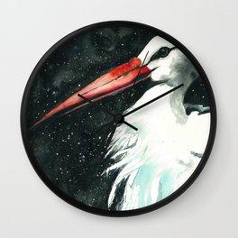 Early stork Wall Clock