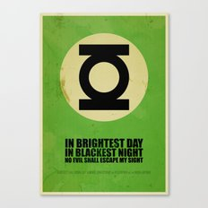 Green Lantern (Super Minimalist series) Canvas Print