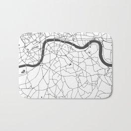 London White on Gray Street Map Bath Mat