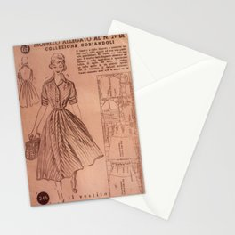 Vintage sewing pattern, 1950s  Stationery Cards