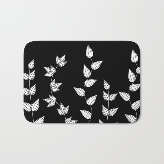 Black and White Garden Bath Mat