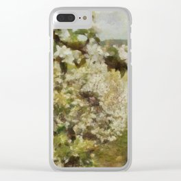 Apple Blossom Bliss Clear iPhone Case