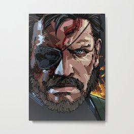 Solid Snake Metal Print