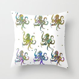 Baby Octopus Throw Pillow