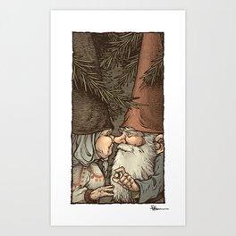 Gnome Engagement Art Print