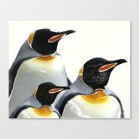 penguins Canvas Prints featuring Penguins by Regan's World