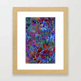Floral Abstract Stained Glass G174 Framed Art Print