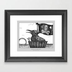 Draven in the Crow's Nest Framed Art Print