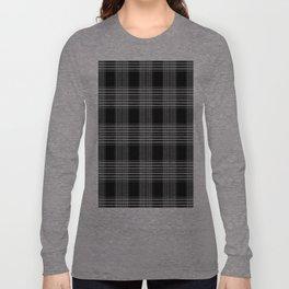 Black & Gray Plaid Print Long Sleeve T-shirt