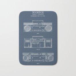 Boombox blueprints Bath Mat