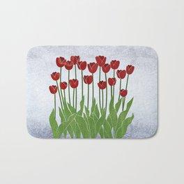 Red Tulips Bath Mat
