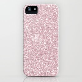 Elegant blush pink abstract trendy girly glitter iPhone Case