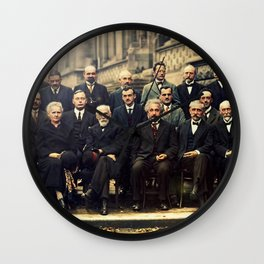Solvay Conference 1927 Einstein Scientists Group Wall Clock