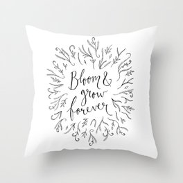 Bloom and Grow Forever Throw Pillow