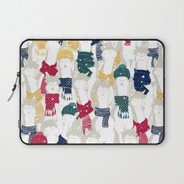 Happy llamas Christmas choir Laptop Sleeve