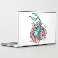 koi fish Laptop & iPad Skins featuring Koi Fish by Bare Wolfe