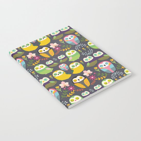 Owls and flowers Notebook