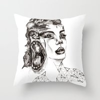 evolution Throw Pillows featuring Evolution by LNNDESIGN