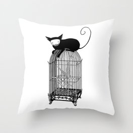 Cages Throw Pillow