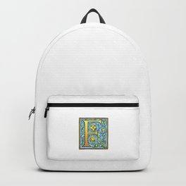 Monogram Initial Alphabet Letter 'F' Backpack