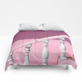Pink Stairway Comforters