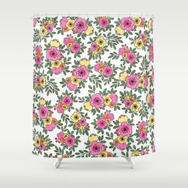 Spring Bunch Watercolor Shower Curtain