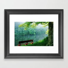 chair alone Framed Art Print