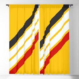 Oldschool Retro Stripes Blackout Curtain