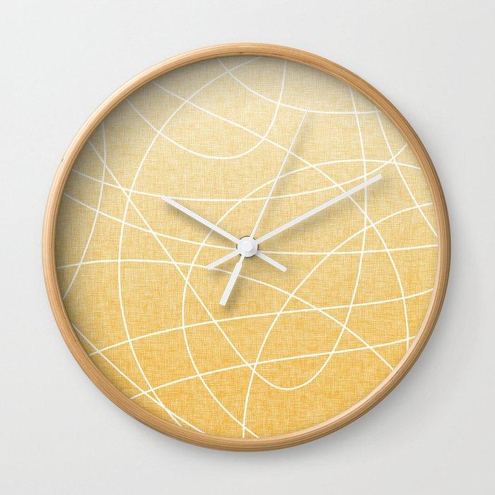 Scribble Linen - Sunflower Yellow Wall Clock