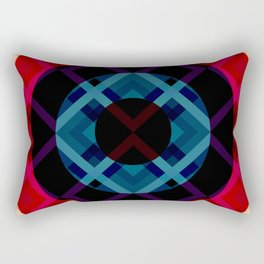 Retro Rocket 04 Rectangular Pillow