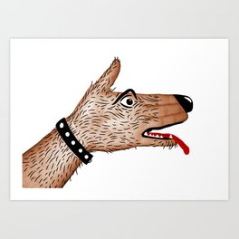 You Ain't Nothin' But A Hand Dog Art Print