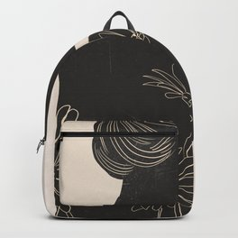 woman with flowers 3 Backpack