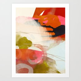 abstract landscape phantasy Art Print