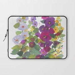 Purple Hollyhock Garden Laptop Sleeve