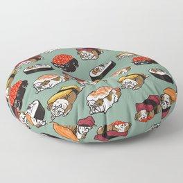Sushi English Bulldog Floor Pillow
