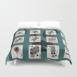 Persian Playing Cards Duvet Cover