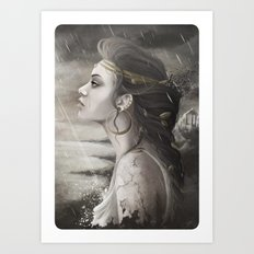 Golden Tear Art Print