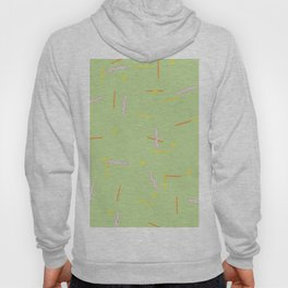 Squiggle Square Line Green Hoody