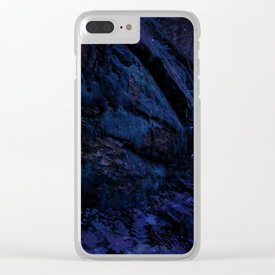 Enchanted Midnight Forest Wall Clear iPhone Case