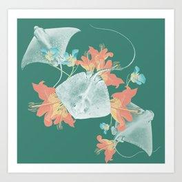 Lilies that sting Art Print