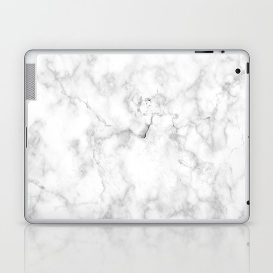 Marble Pattern On White Background Laptop Ipad Skin By Catclj108 Society6