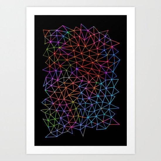 Geometric Glow Art Print