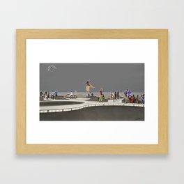 Venice beach skate park Framed Art Print